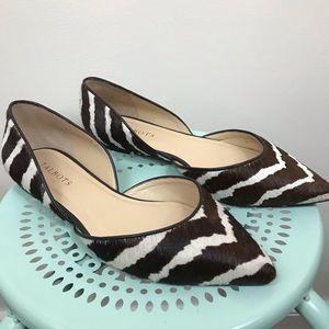 TALBOTS | Zebra Print Calf Hair Nessa Flats